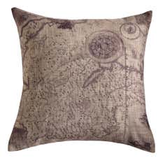 Map Printed Cushion