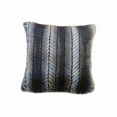 Faux Fur Chevron Cushion
