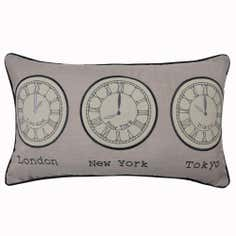 World Clock Printed Cushion