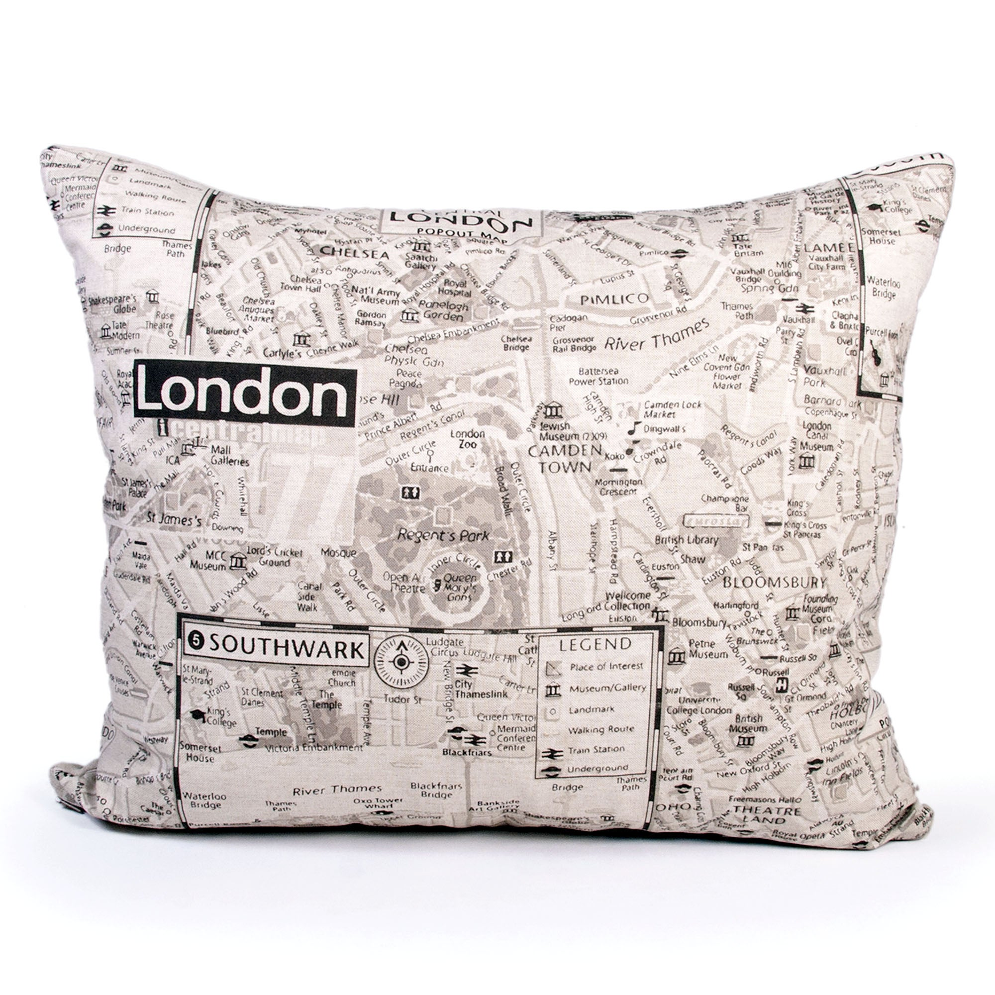 London Map Cushion