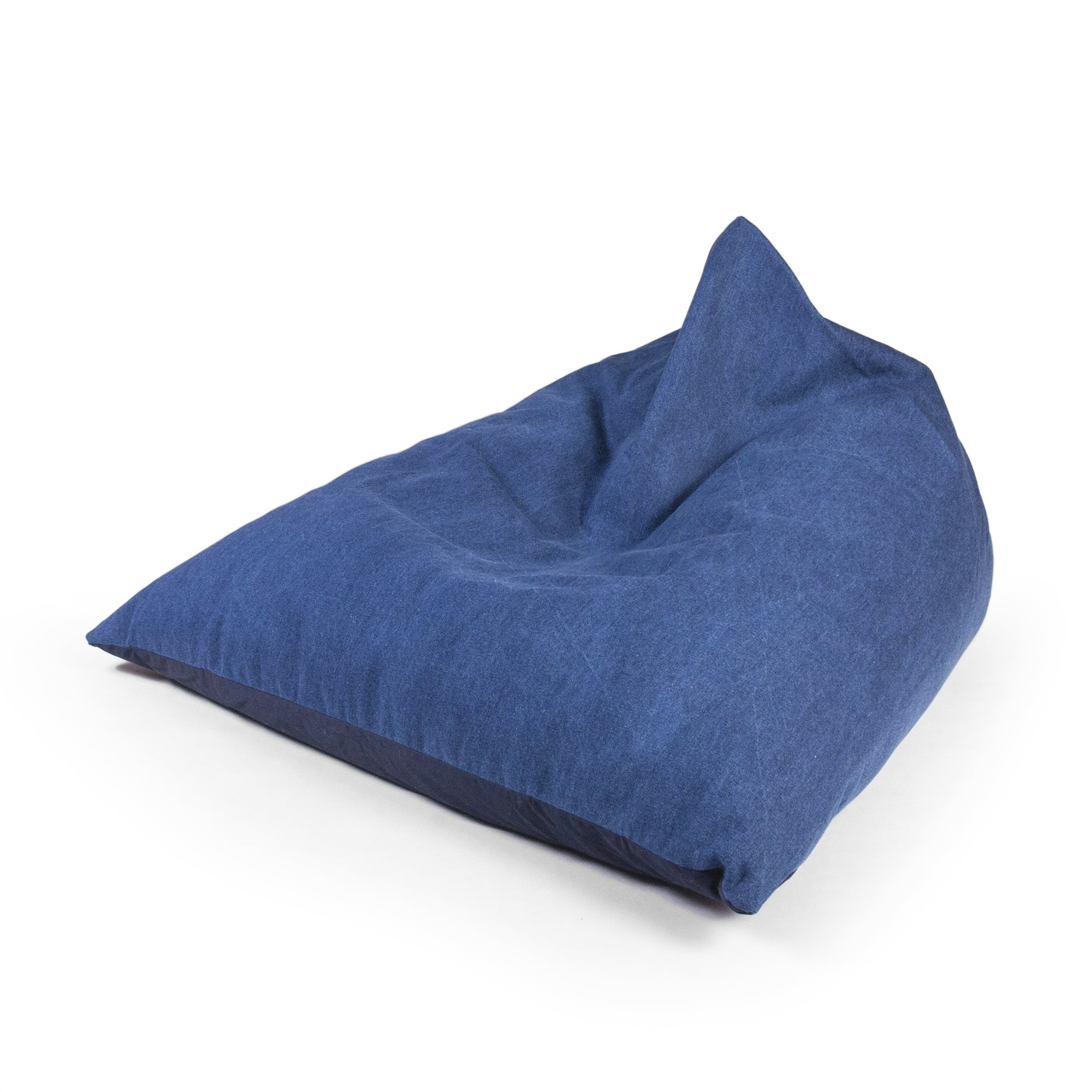 Denim Wedge Bean Bag