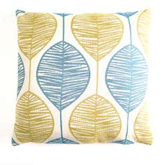 Retro Leaf Cushion Cover