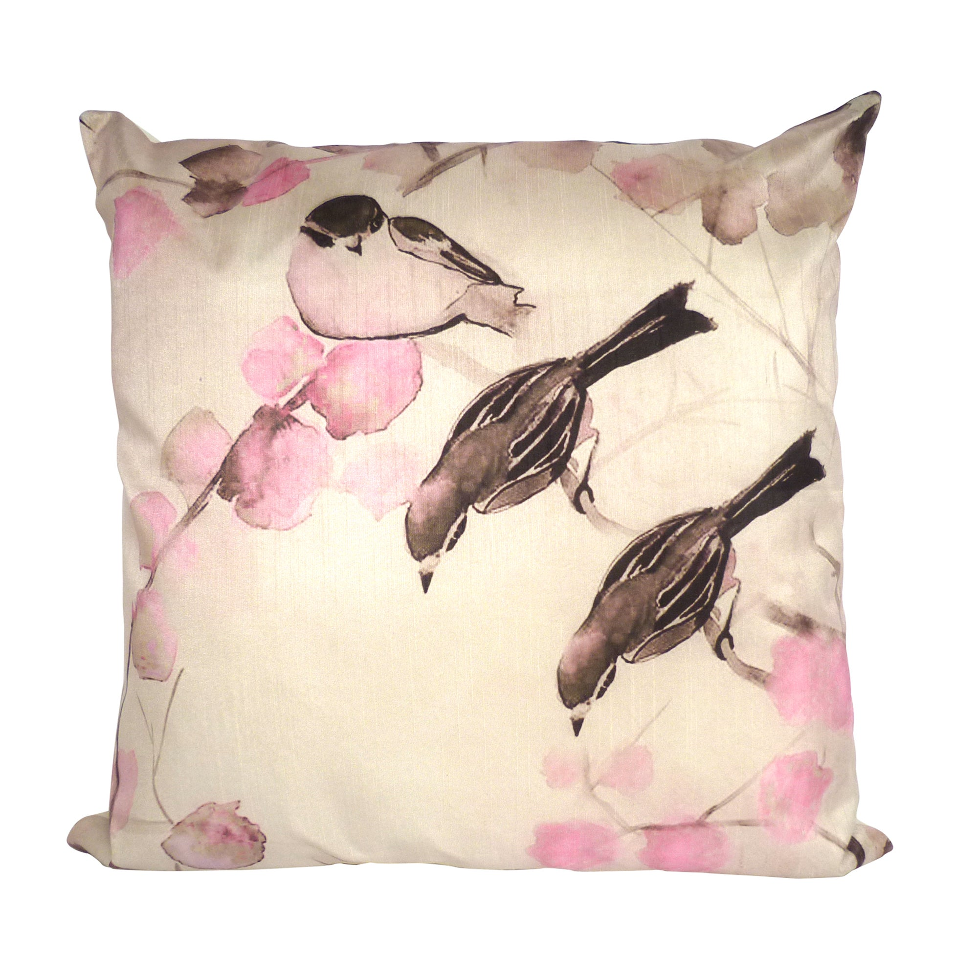 Birds and Blossom Cushion