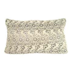 Grey Lace Cushion