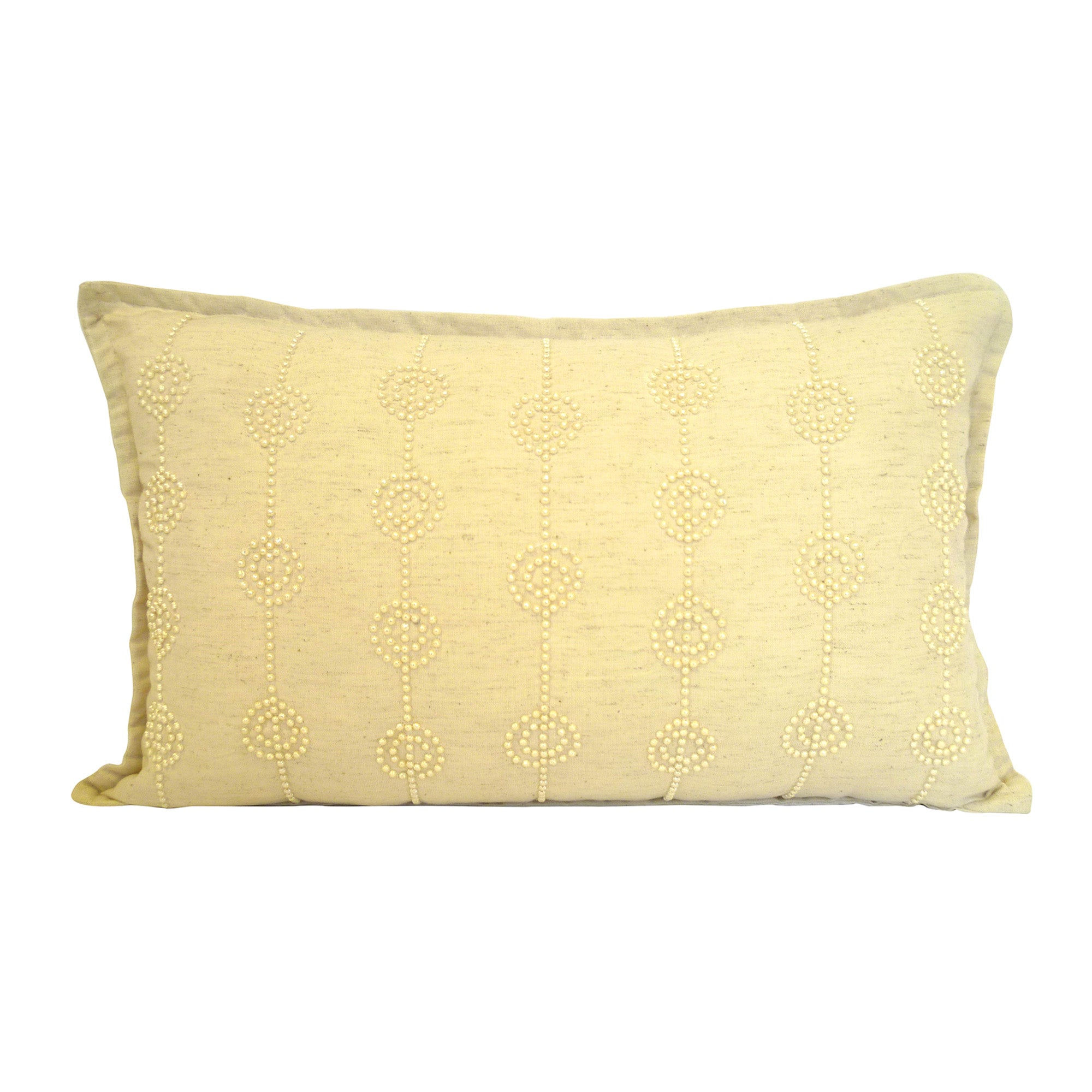 Natural Pearl Beaded Cushion