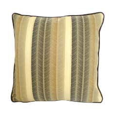 Brown Solenza Stripe Cushion