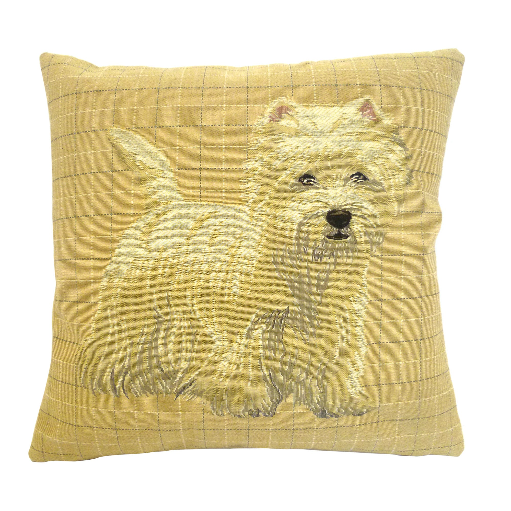 Natural Westie Cushion