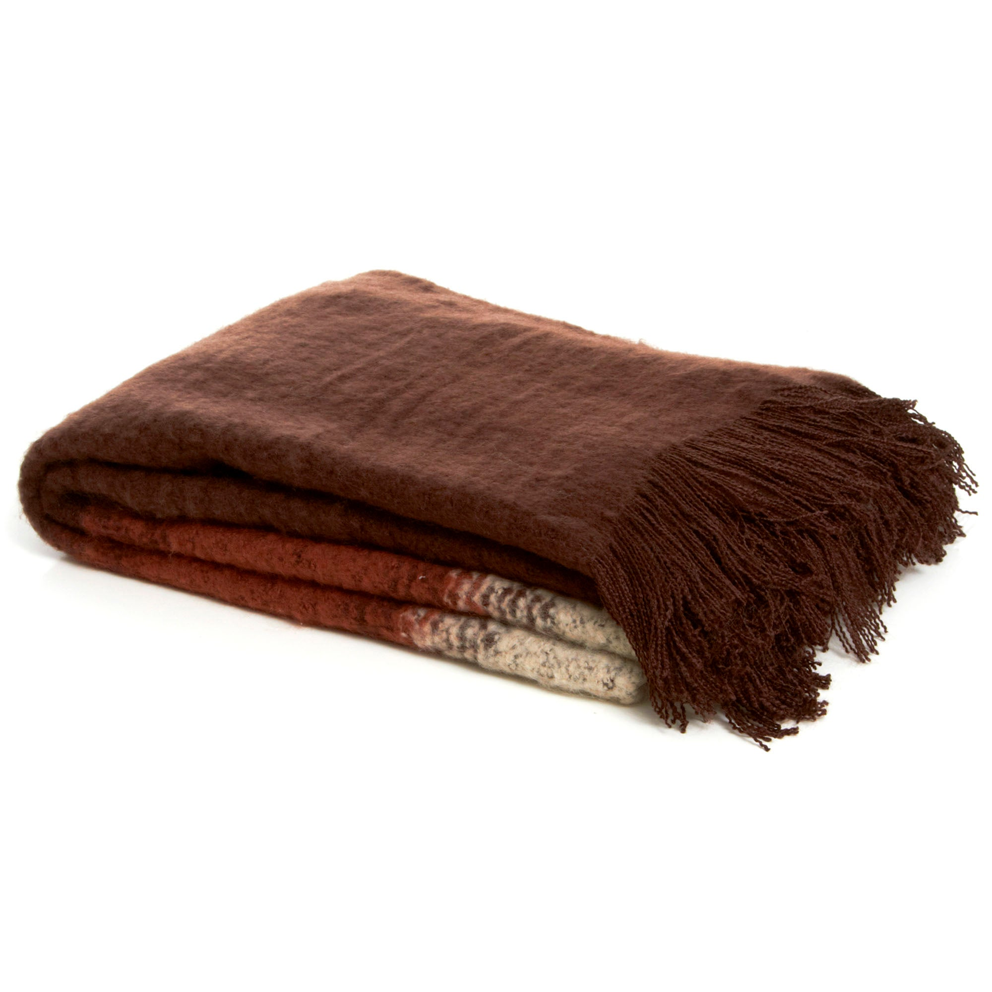 Brown Ombre Throw