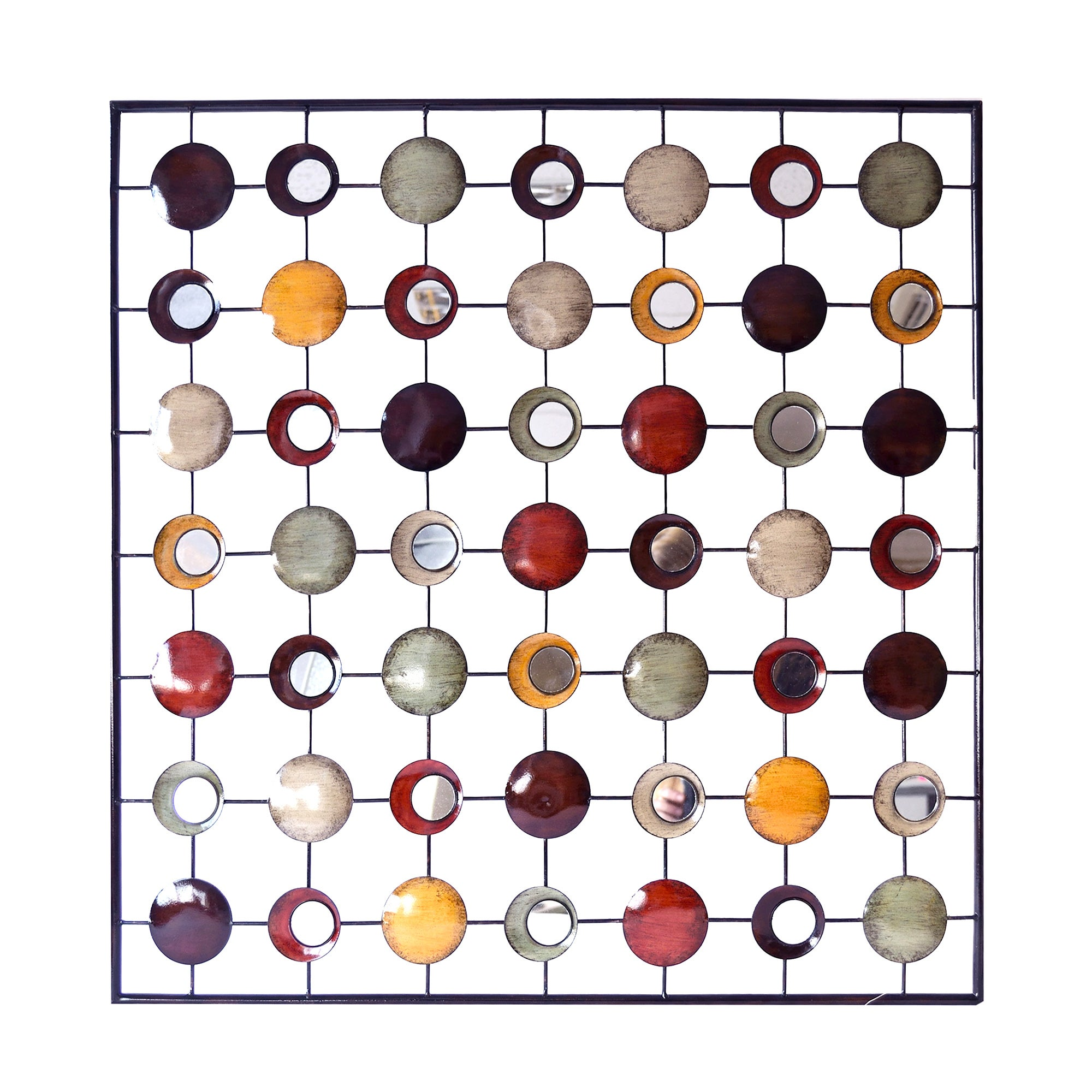 Circles in Square Metal Wall Art