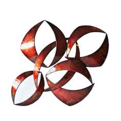 Criss Cross Metal Wall Art