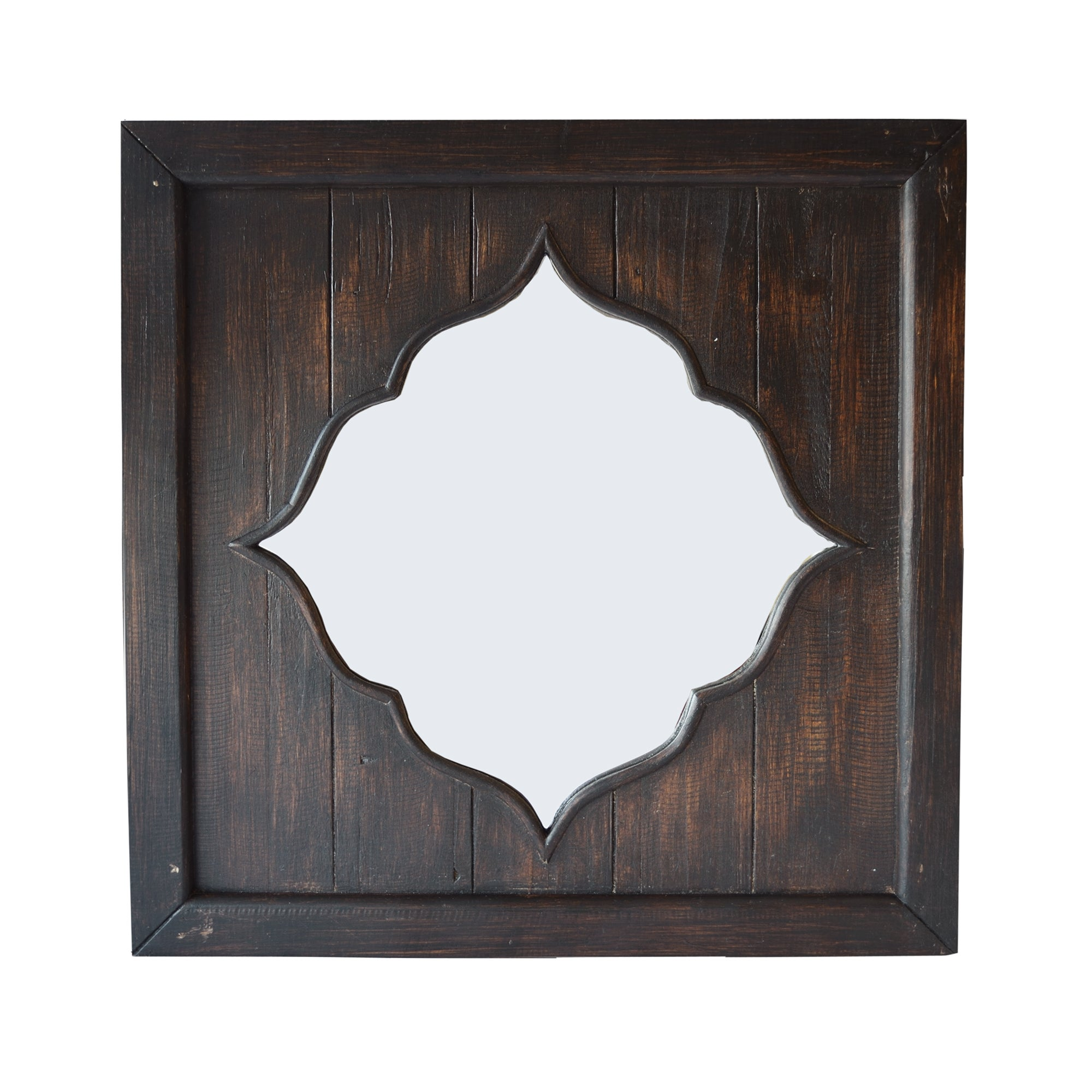 Dark Wood Moroccan Mirror