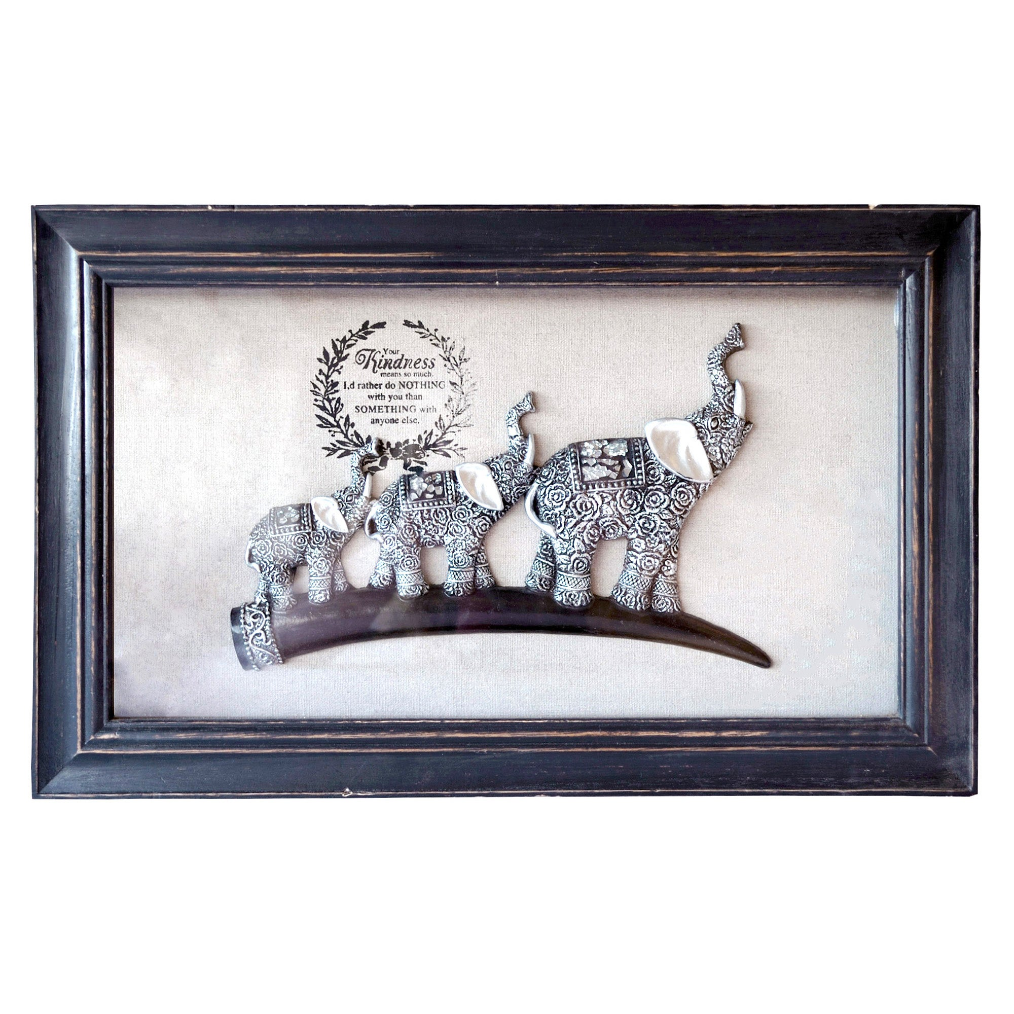 Framed Elephants Wall Art