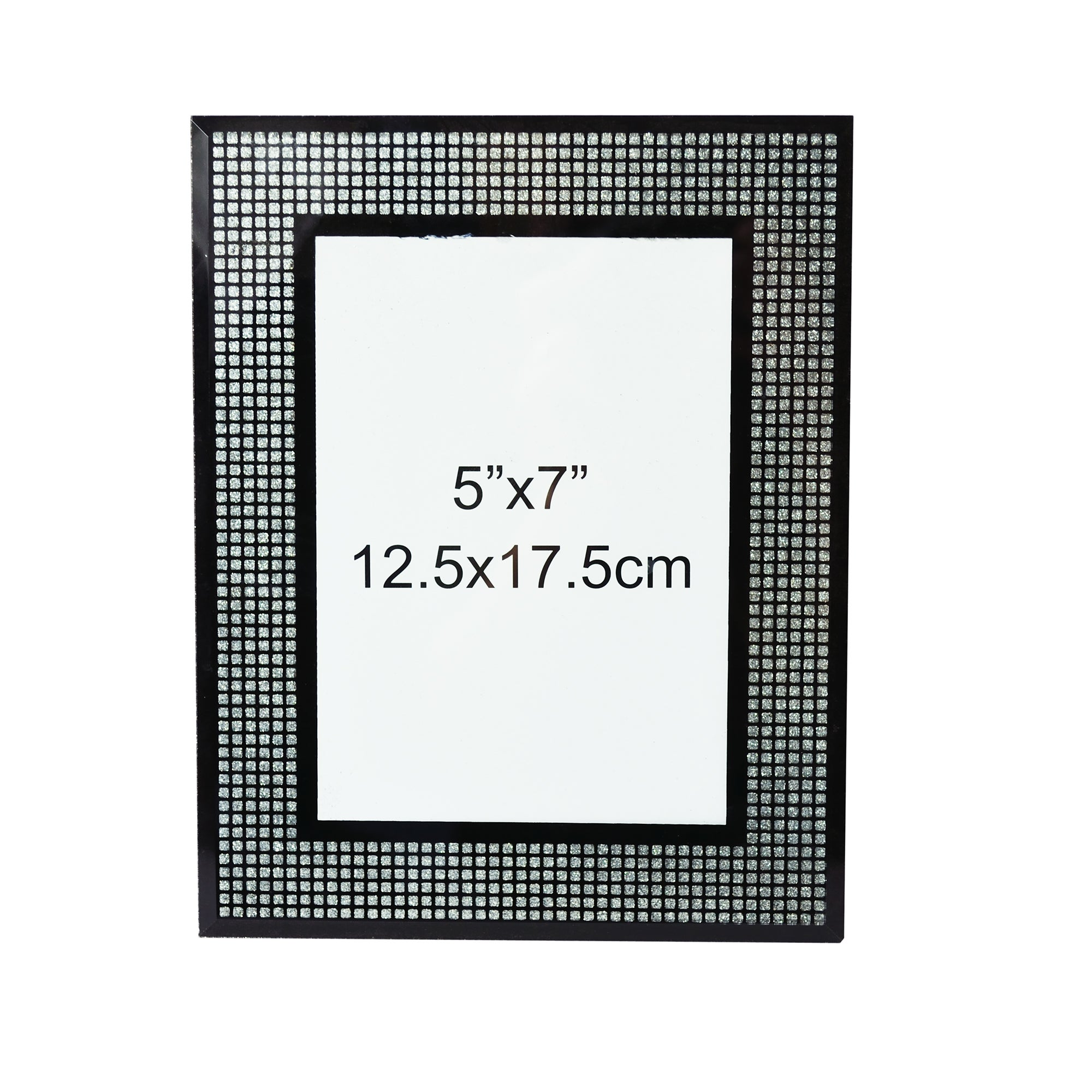 Black Glitter Glass Photo Frame