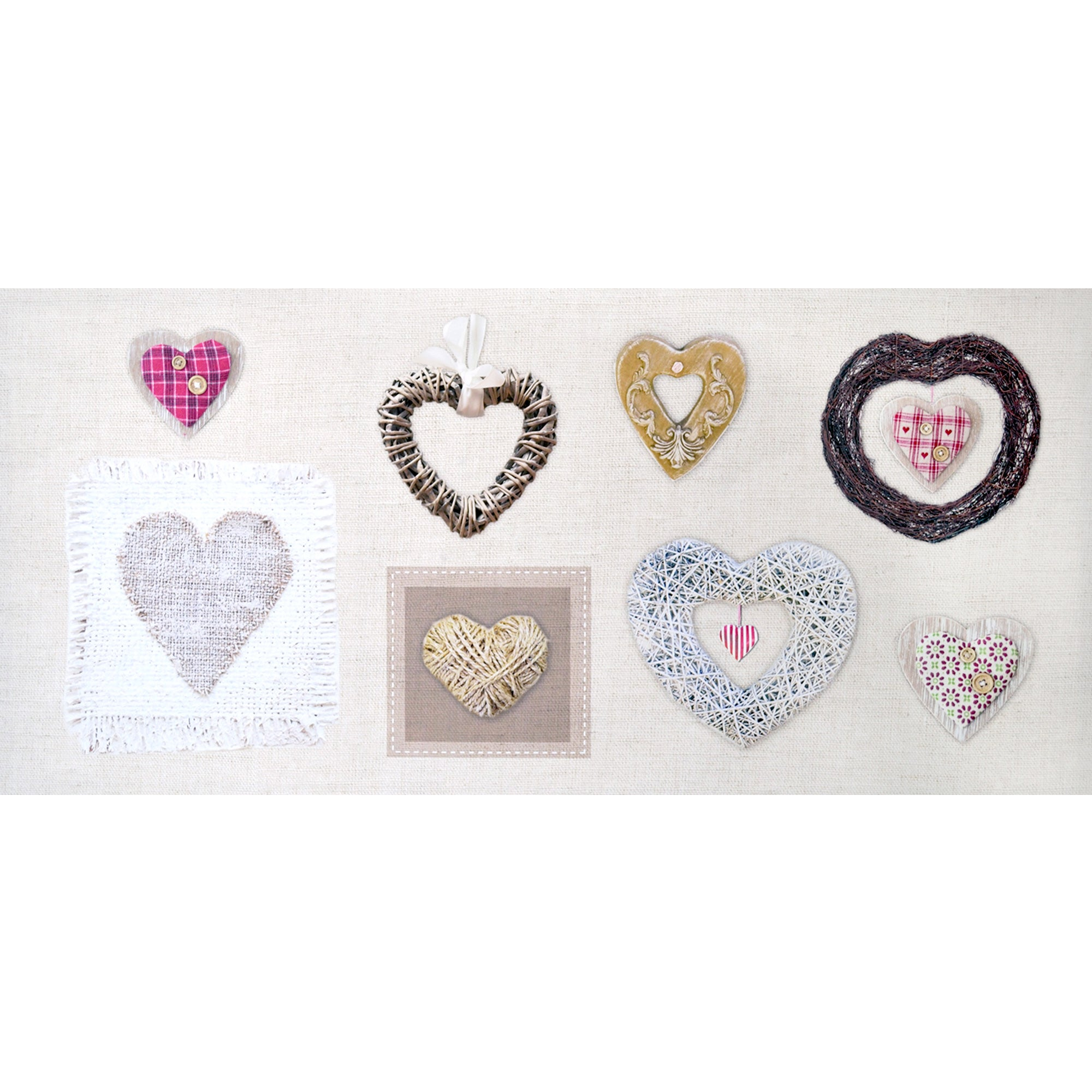 Heart Collection Printed Canvas