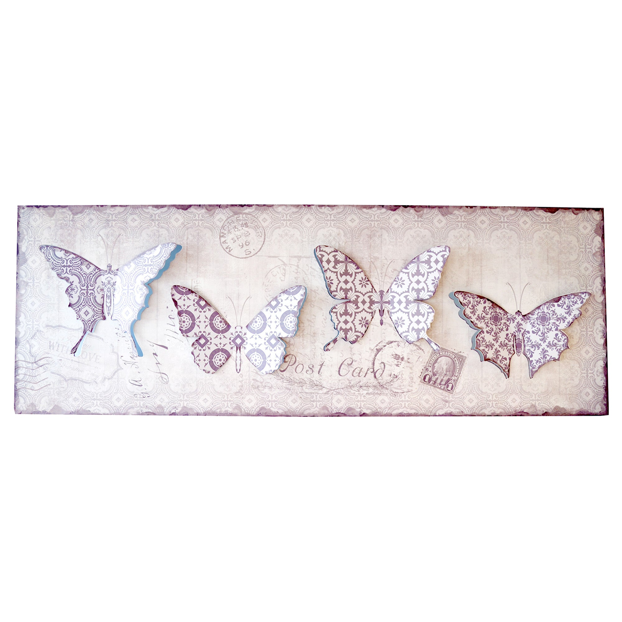 Pop Out Butterflies Metal Wall Art