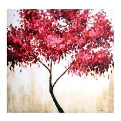 Red Tree Printed Canvas