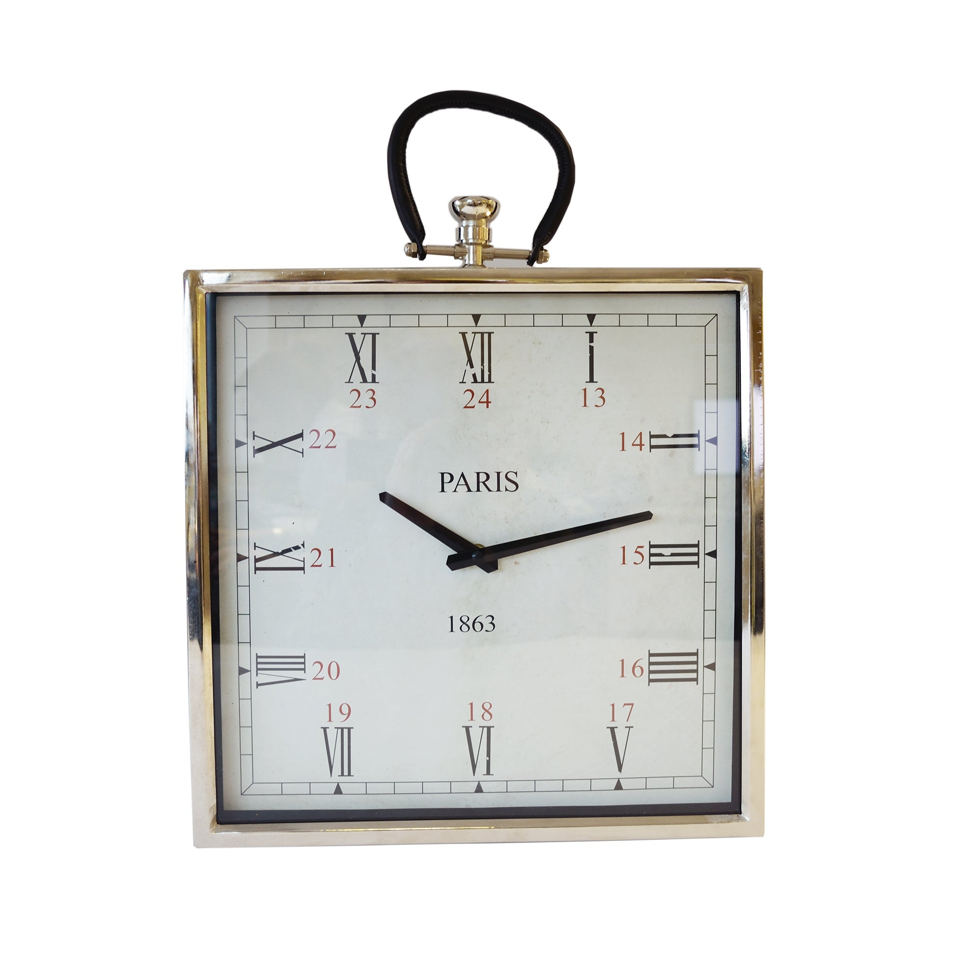 Silver Oversized Pocket Watch Clock