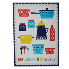 Utensils Printed Canvas