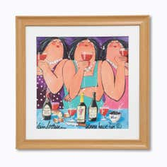 3 Ladies Framed Print