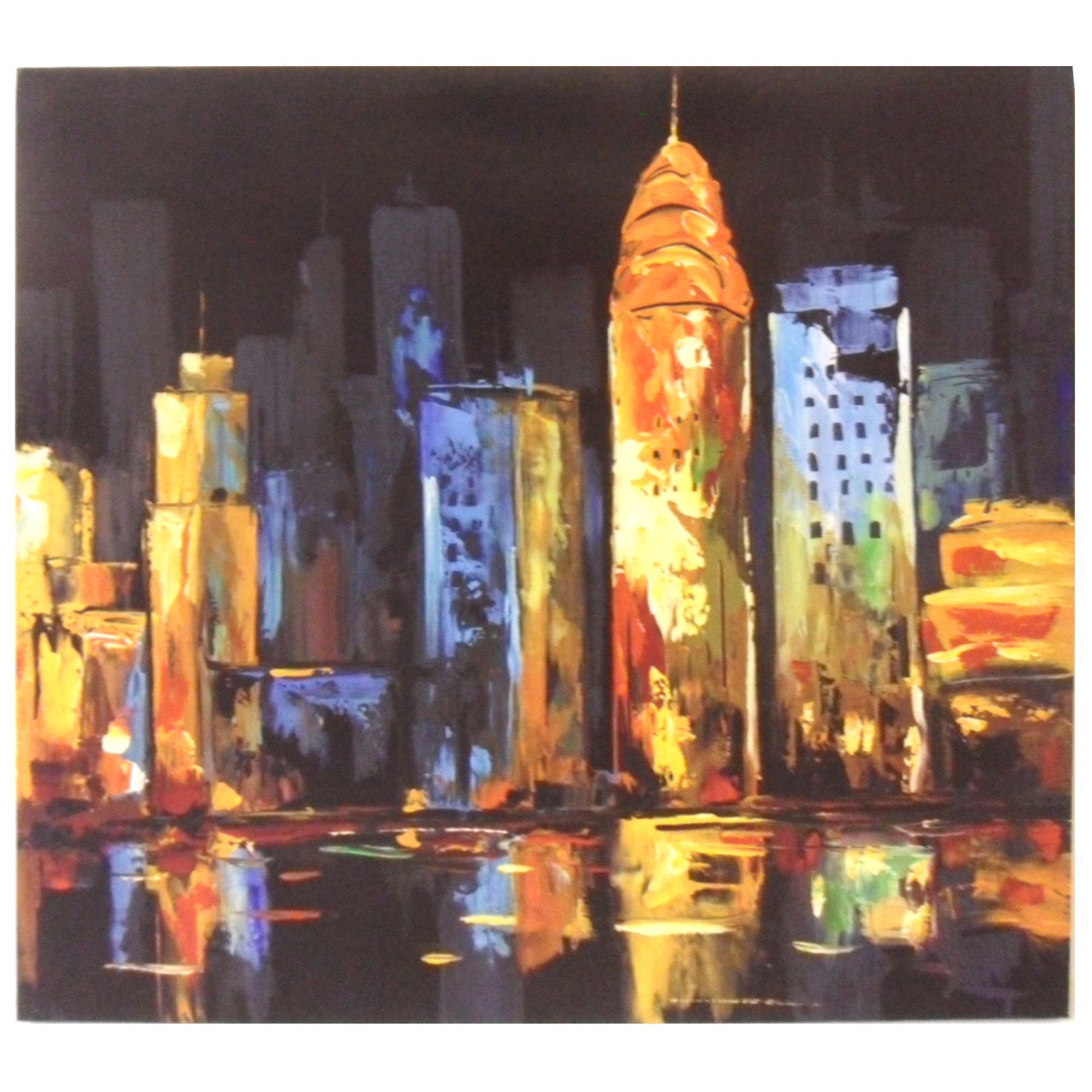 Bright Cityscape Printed Canvas