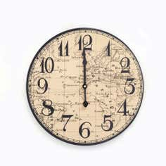 Colonial Collection Map Clock