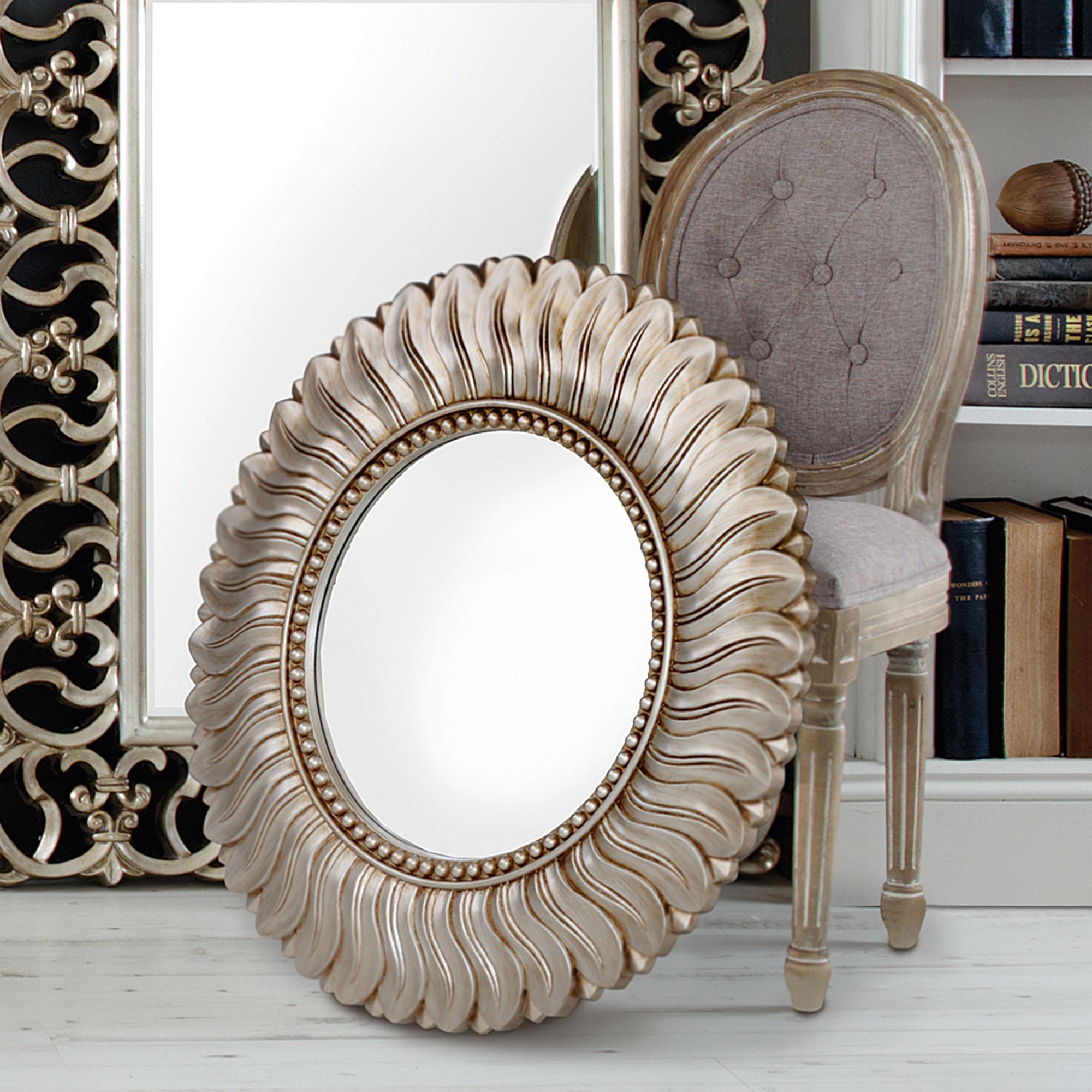Champagne Leaf Mirror