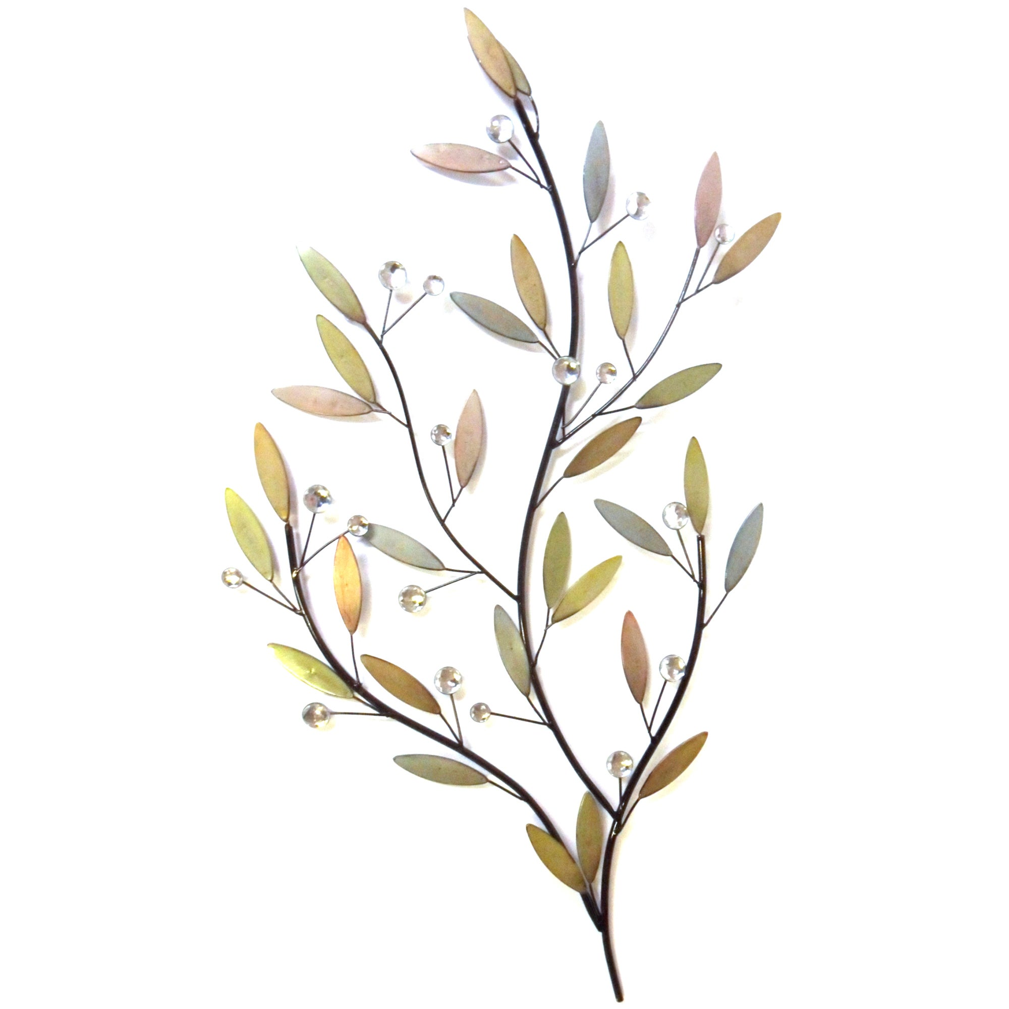 Pastel Leaves Metal Wall Art