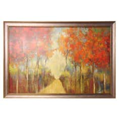 Red Trees Framed Print