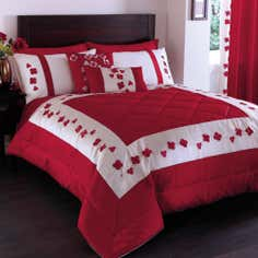 Red Blossom Trail Collection Bedspread