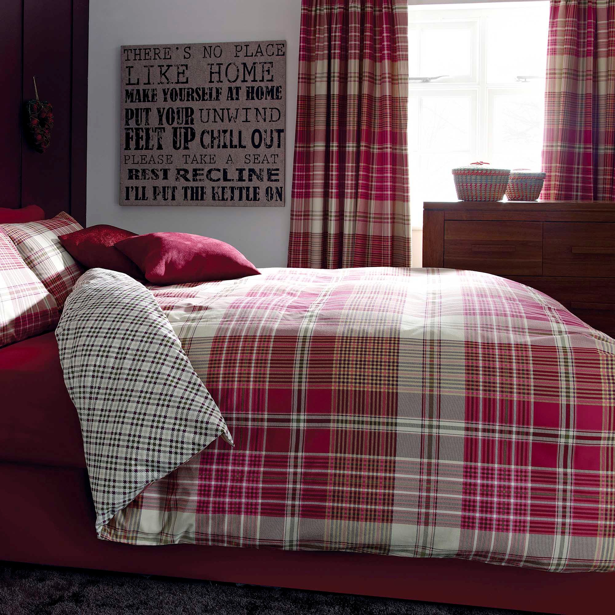 Pink Calie Check Collection Duvet Cover Set