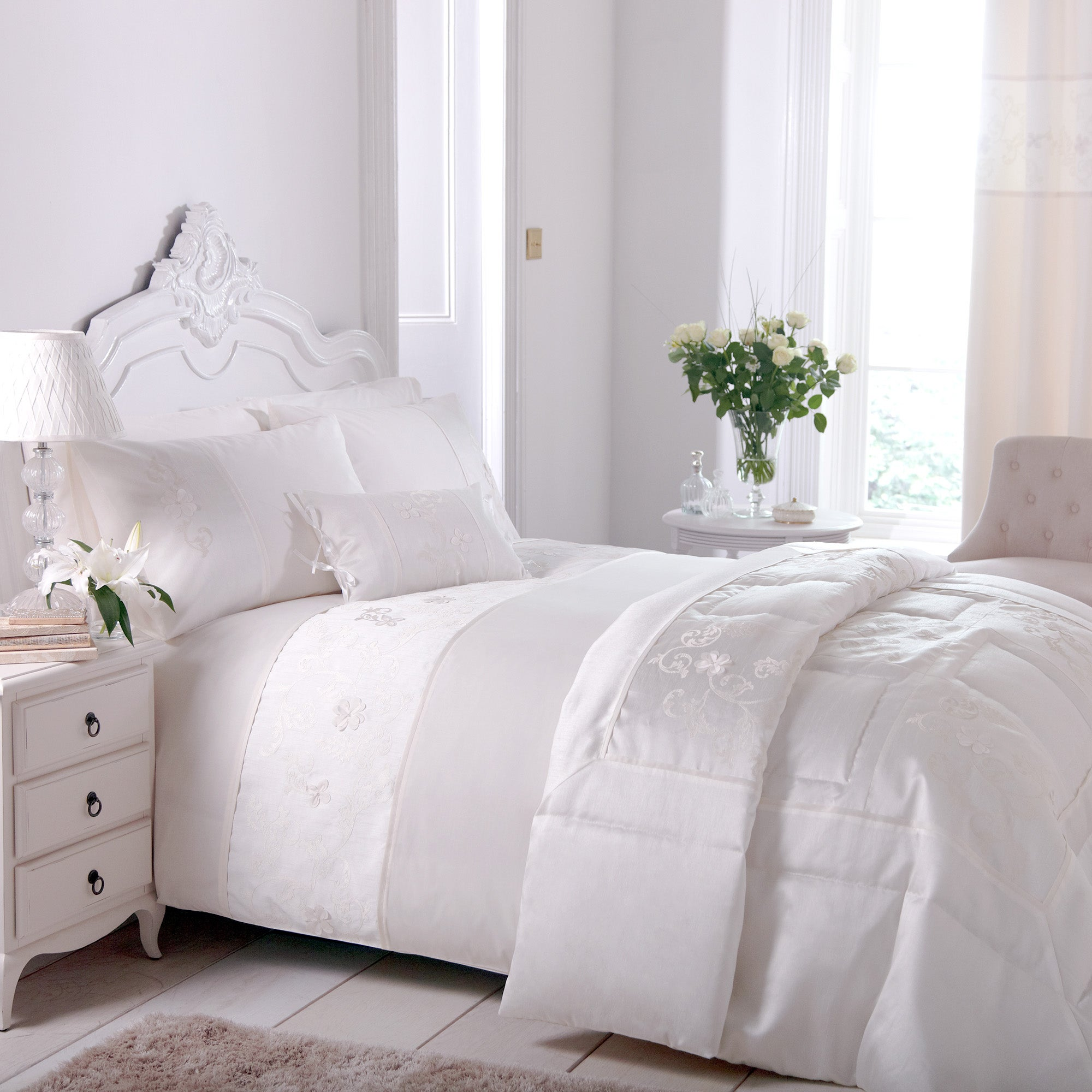 Ivory Clarence Collection Duvet Cover