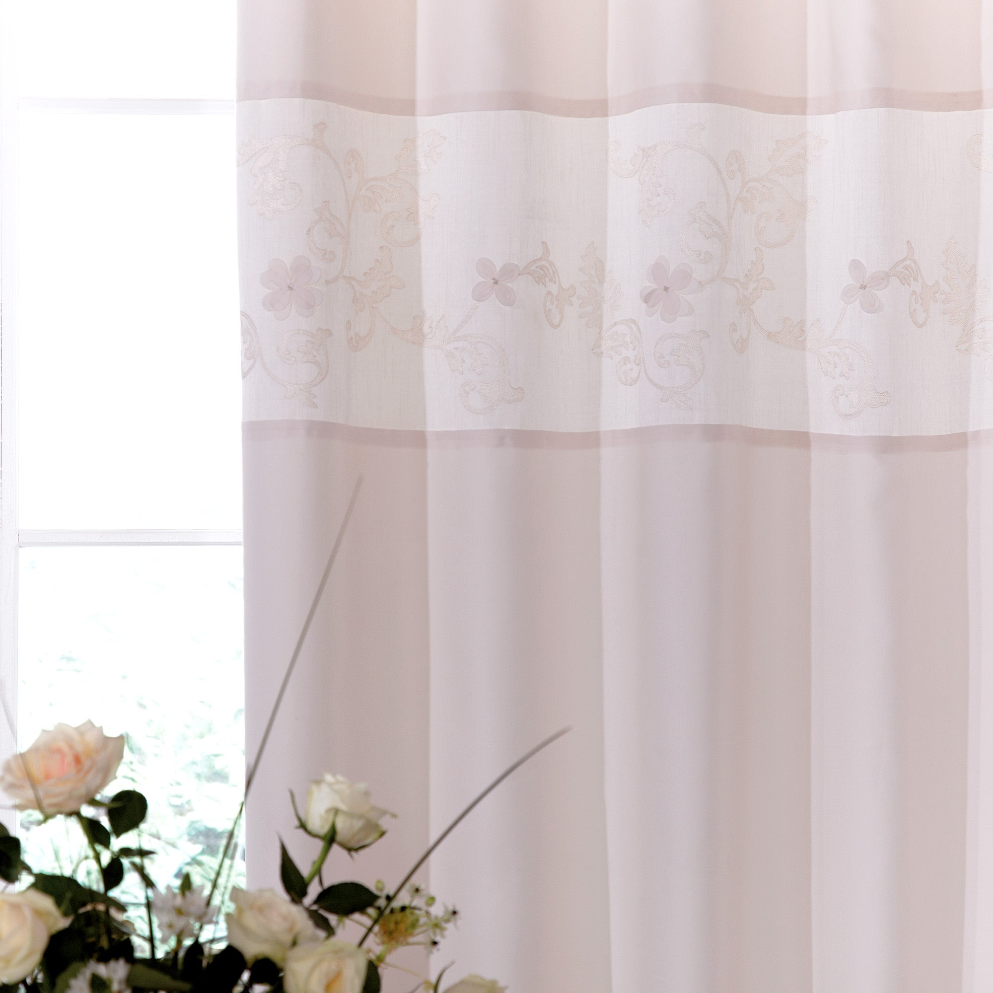Ivory Clarence Thermal Pencil Pleat Curtains