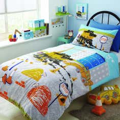 Kids Construction Collection Duvet Cover Set