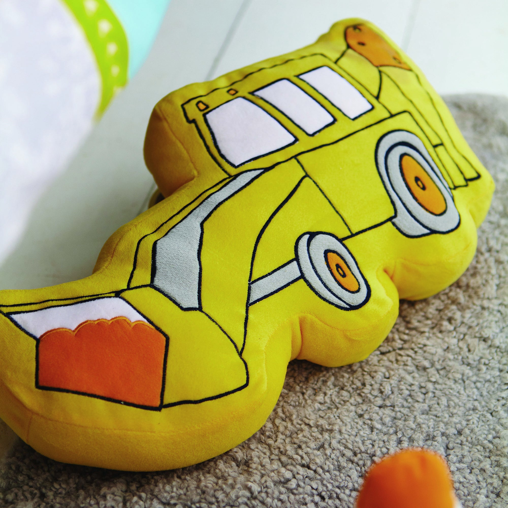 Kids Construction Collection 3D Cushion