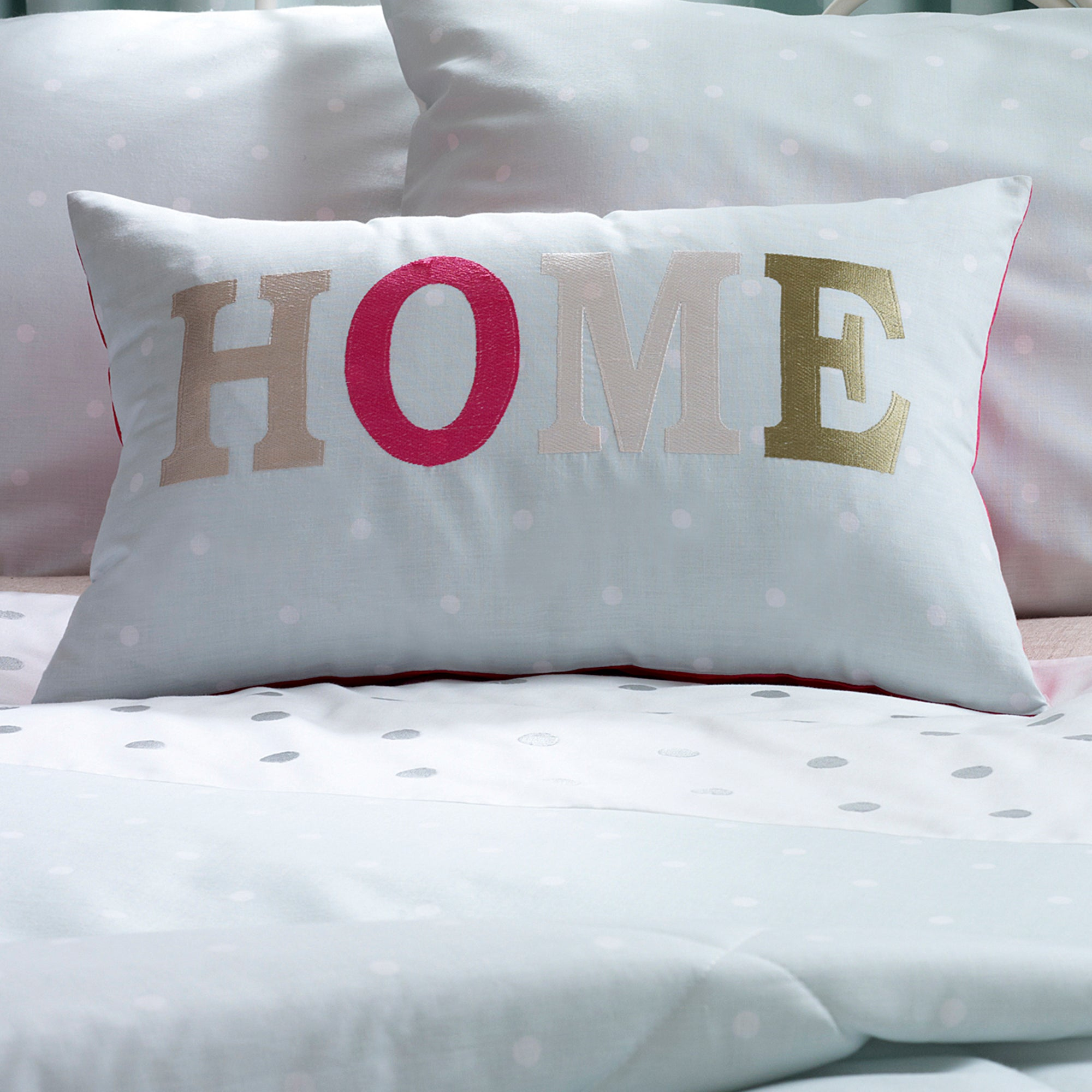 Duck Egg Country Spot Collection Boudoir Cushion