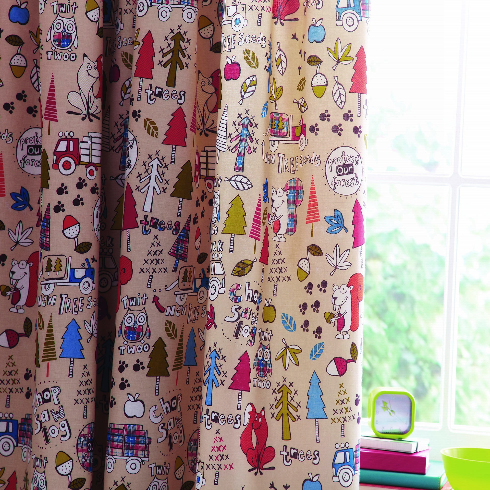 Kids Cyril & Chums Blackout Pencil Pleat Curtains