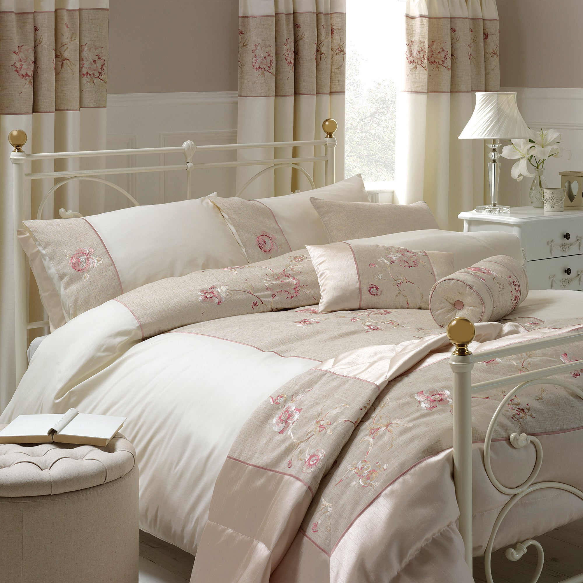 ivory gracie collection duvet cover dunelm. Black Bedroom Furniture Sets. Home Design Ideas