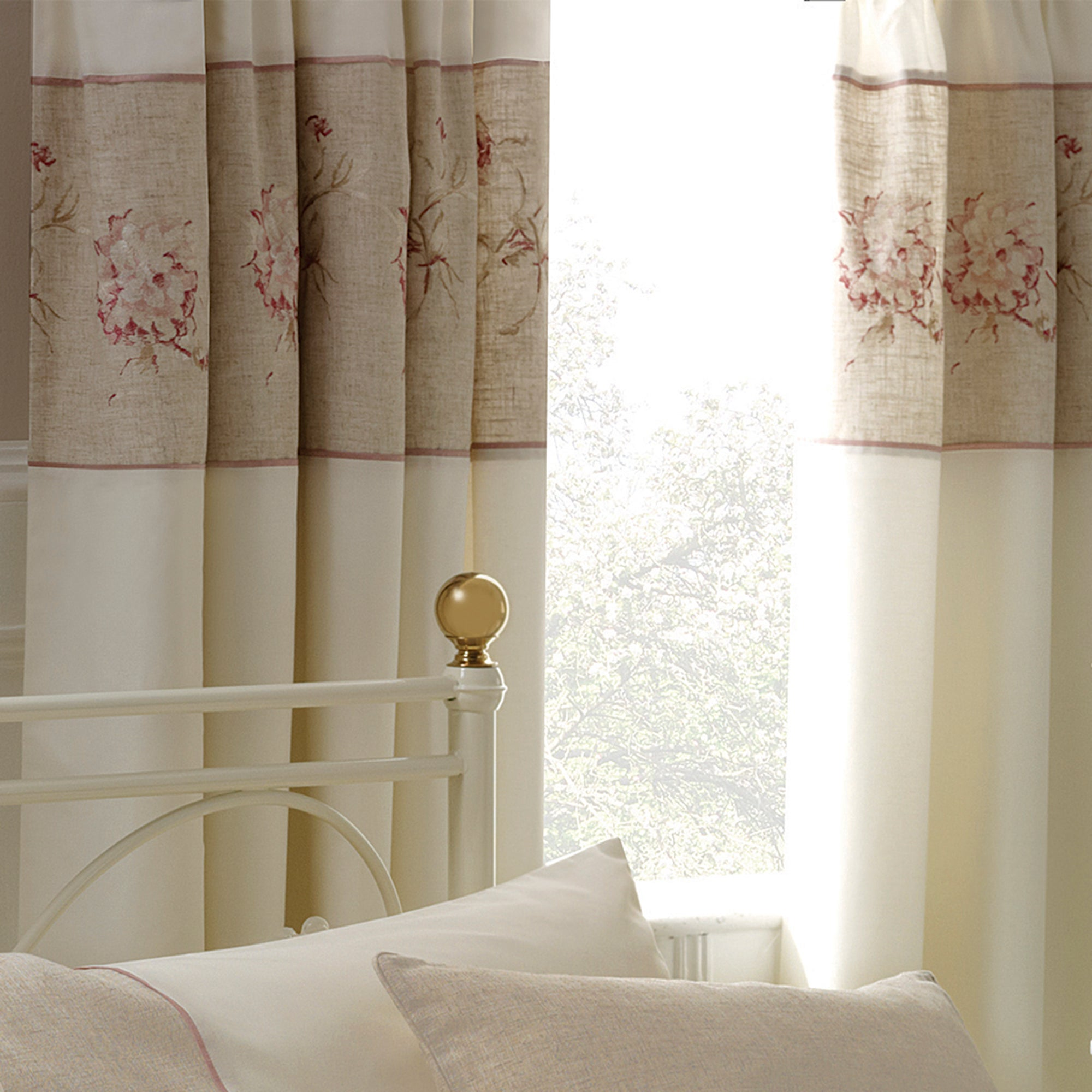 Ivory Gracie Thermal Pencil Pleat Curtains