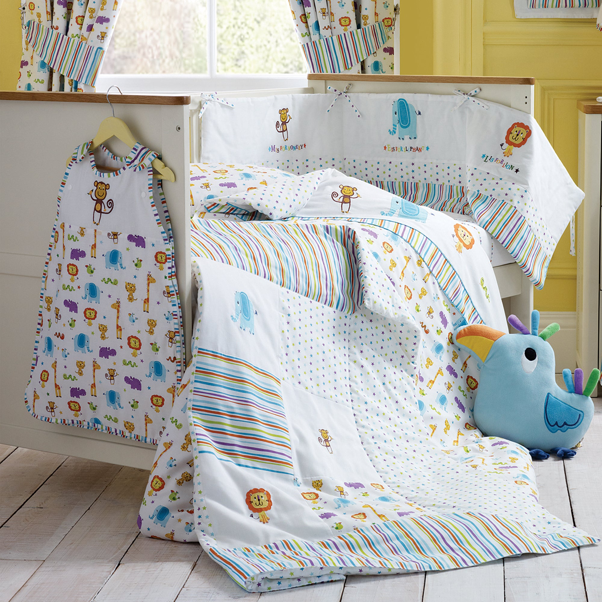 Kids Jungle Time Collection Cot Duvet Cover
