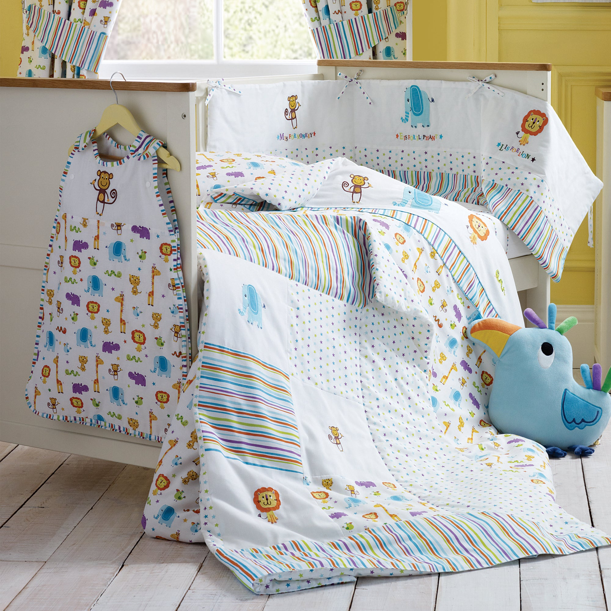 Kids Jungle Time Collection Cot Bed Duvet
