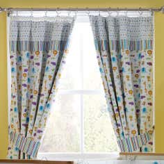 Kids Jungle Time Blackout Pencil Pleat Curtains