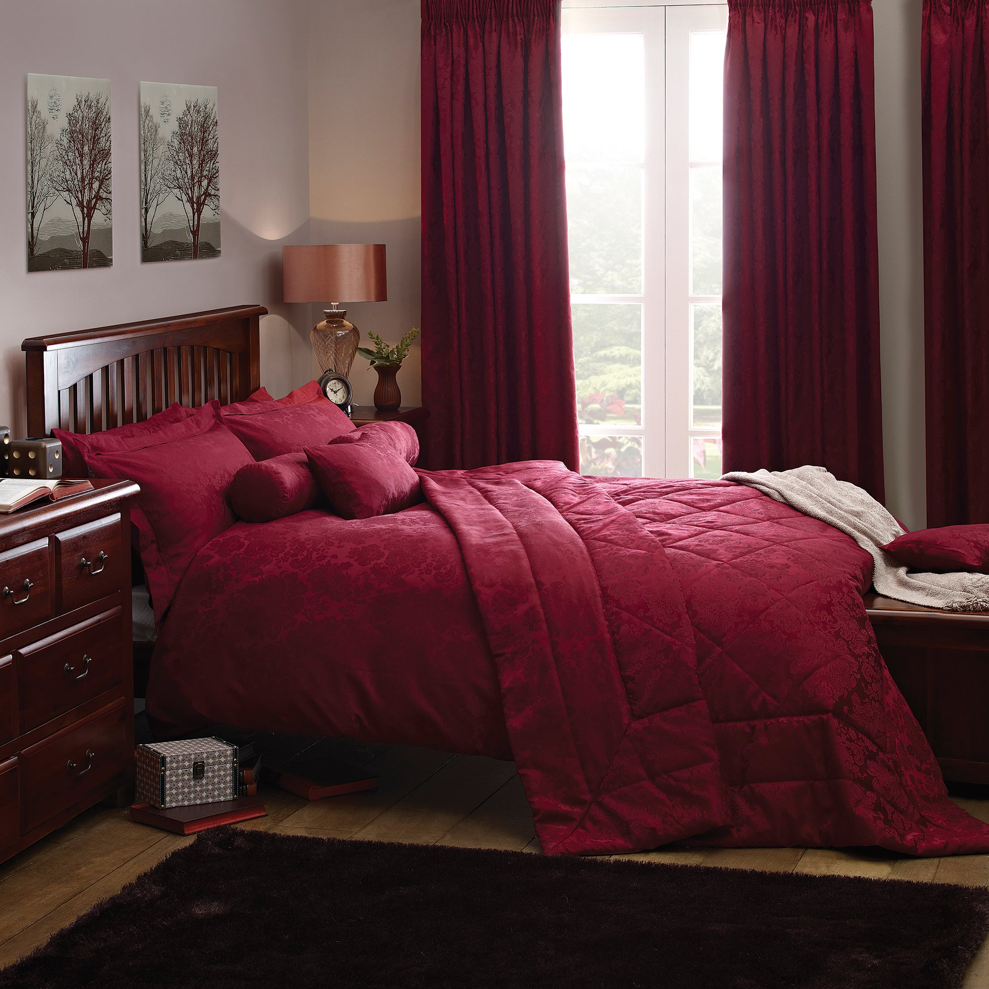 Red Libby Collection Duvet Cover