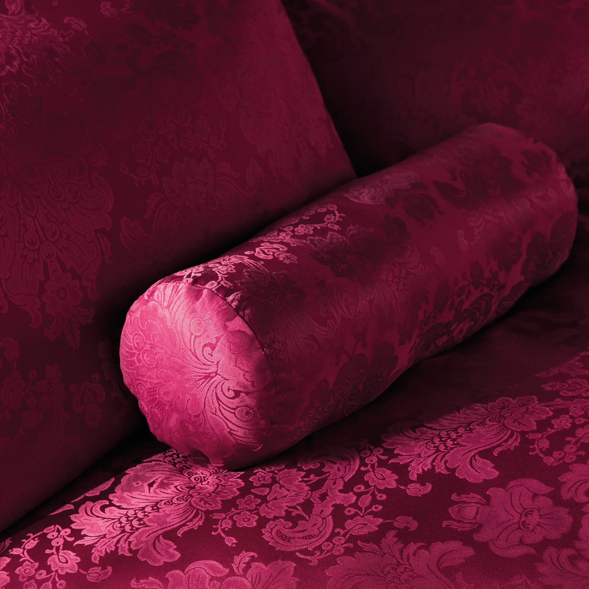 Red Libby Collection Bolster Cushion