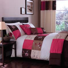 Pink Madison Patchwork Collection Duvet Cover