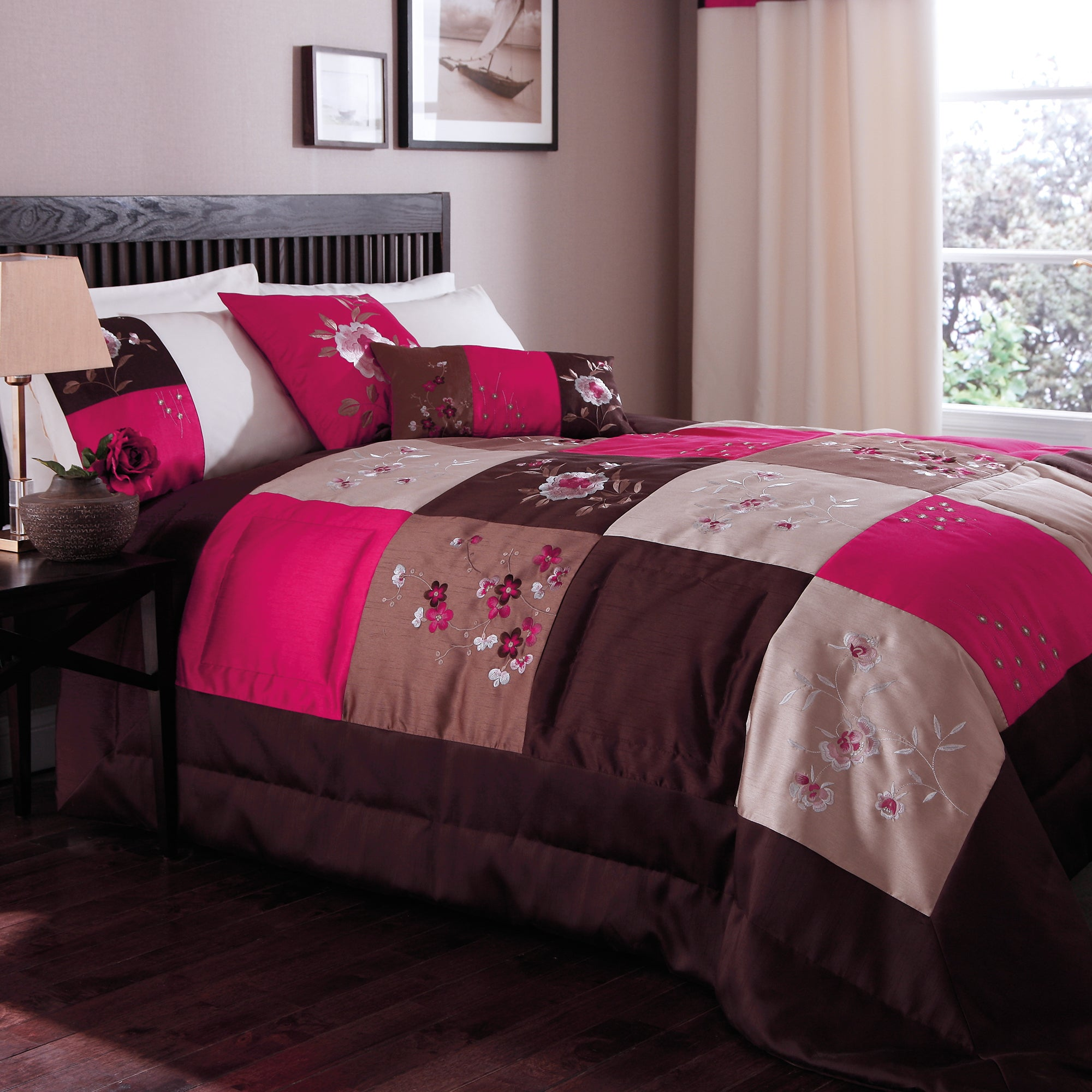 Pink Madison Patchwork Collection Bedspread