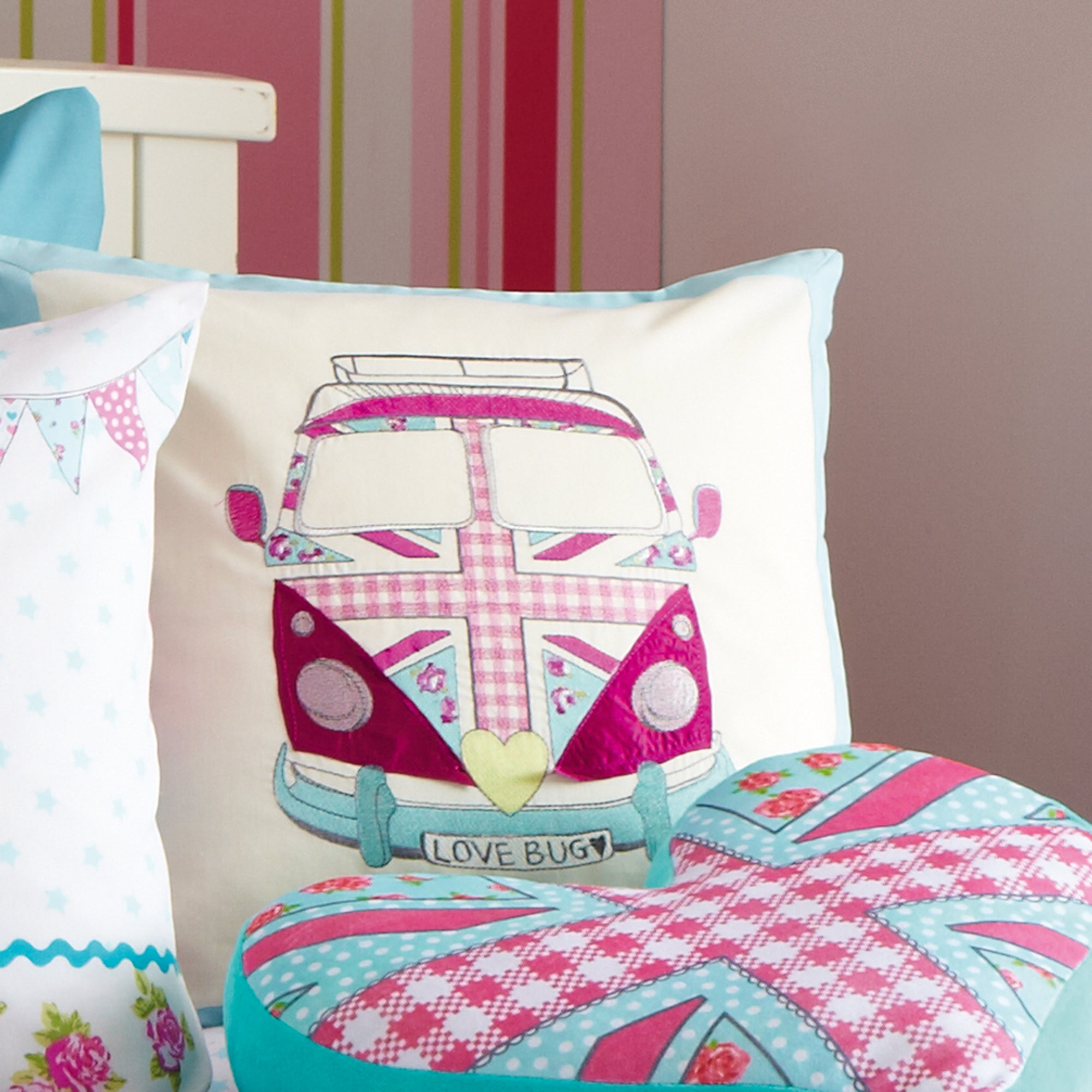 Kids Union Jack Camper Van Collection Cushion