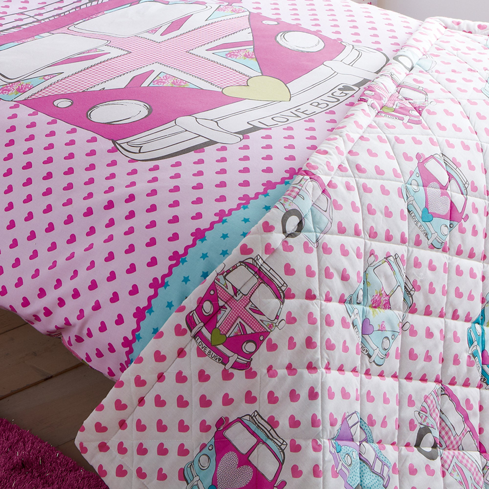 Kids Union Jack Camper Van Bedlinen Collection
