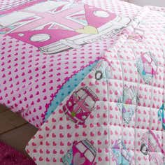 Kids Union Jack Camper Van Collection Bedspread