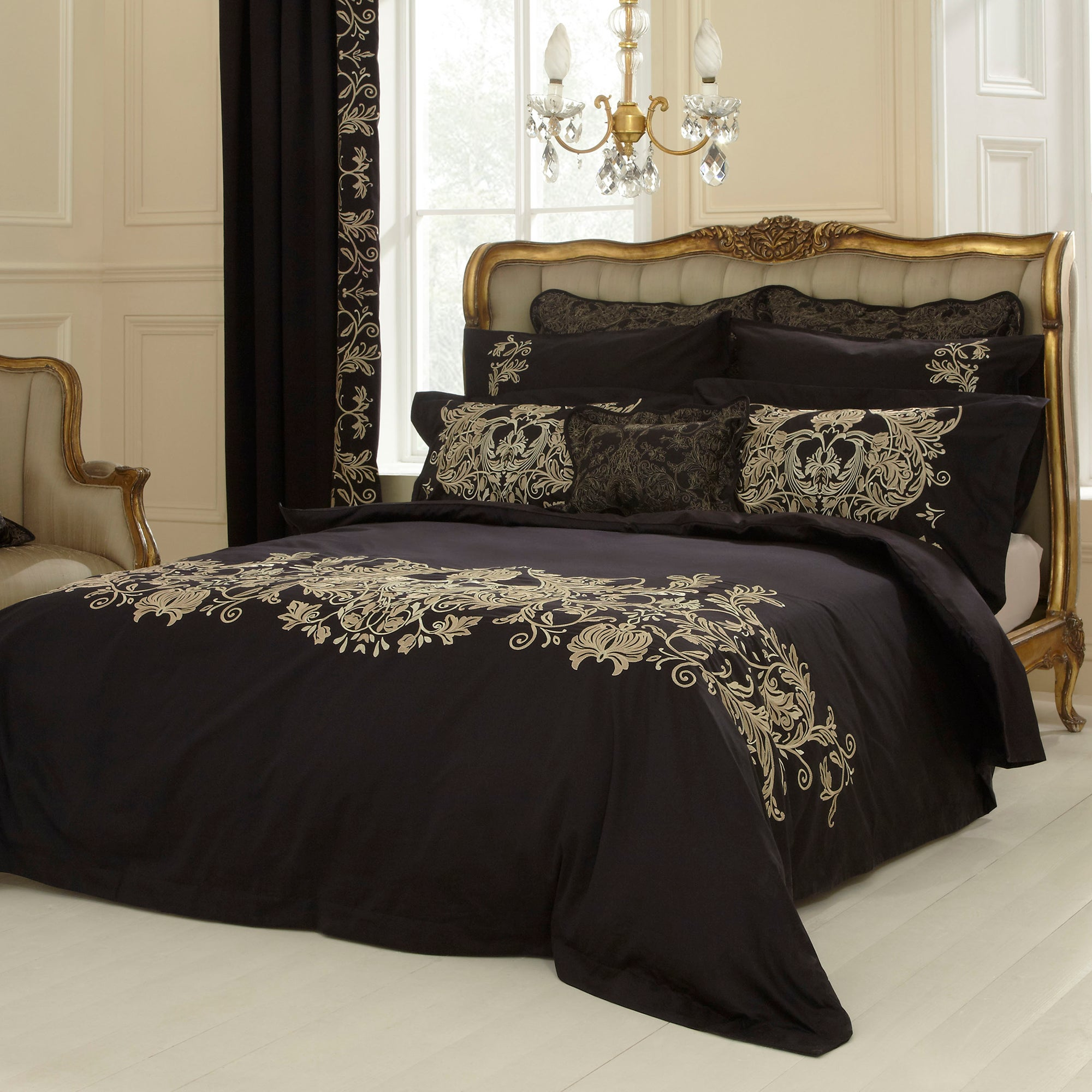Dorma Black Mayfair Collection Duvet Cover