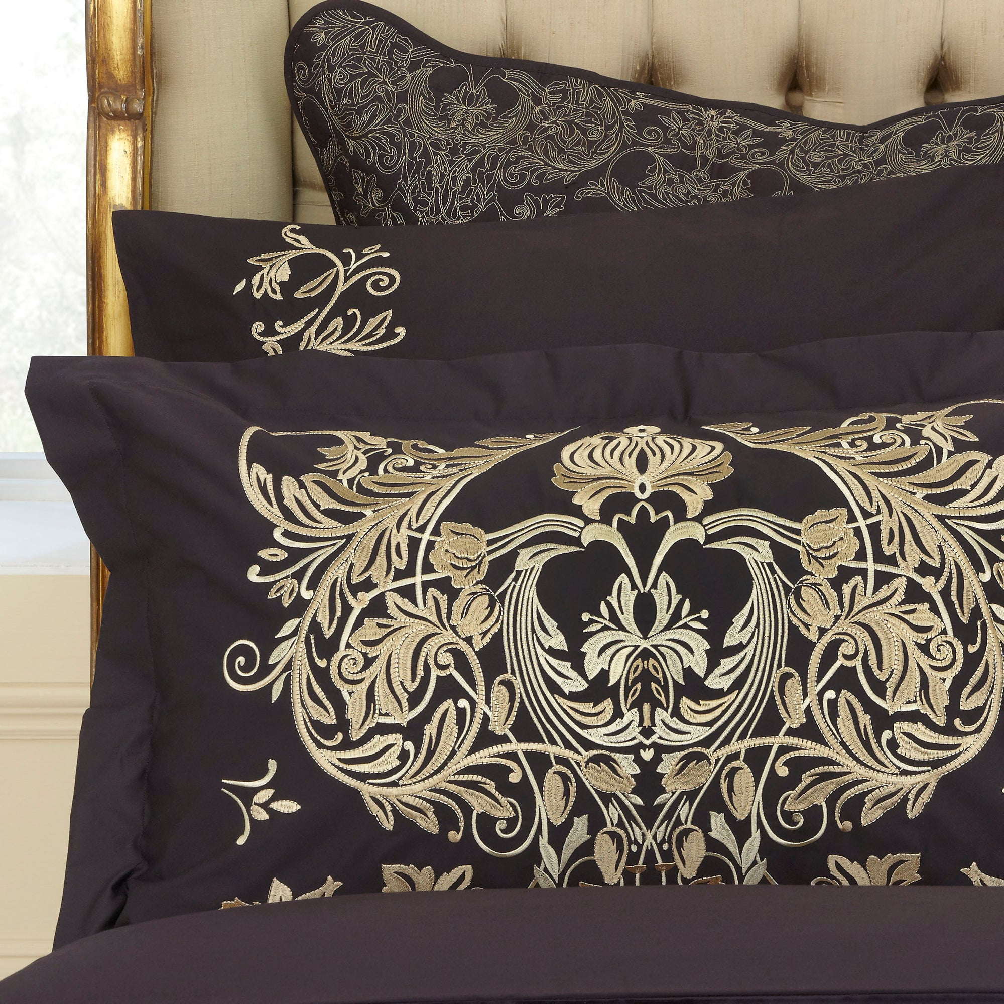 Dorma Black Mayfair Collection Oxford Pillowcase